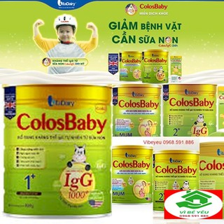 Sữa Non Colosbaby 1000IgG 800g Số 0 1 2 Colos for Mum Mẫu Mới Date T6.2022