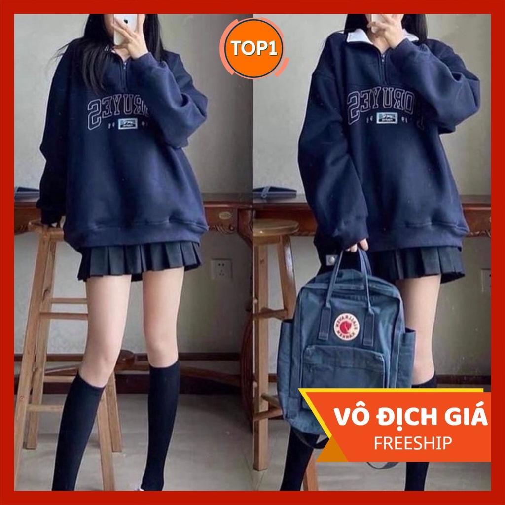 Áo sweater nữ form rộng Unisex FOR siêu xinh PT7 phong cách Hàn Quốc, Áo hoodie nỉ không mũ oversize streetwear