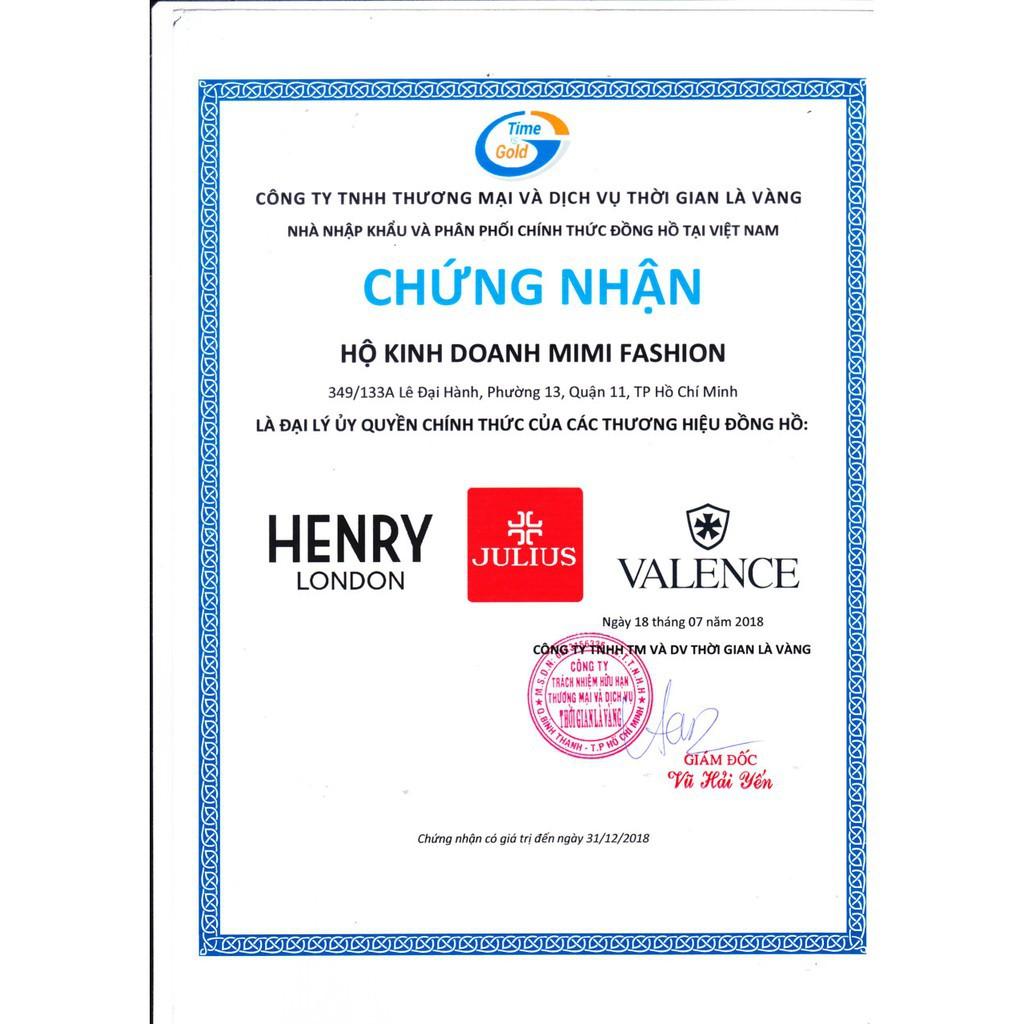 ĐỒNG HỒ NAM VALENCE HÀN QUỐC DÂY DA VC-036 (NÂU) : cao cấp