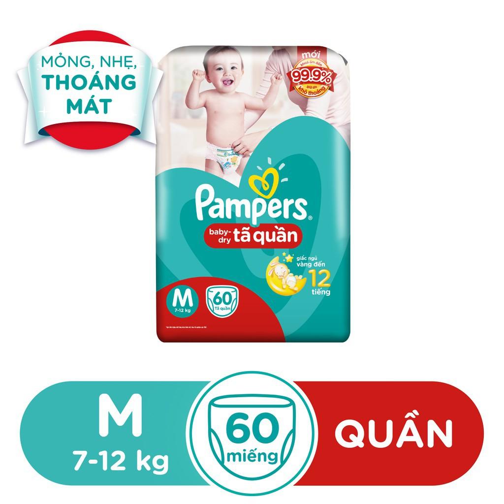 Hình ảnh [HCM]Tã Quần Pampers Baby-Dry bịch Jumbo đại đủ size M60/L54/XL48-1