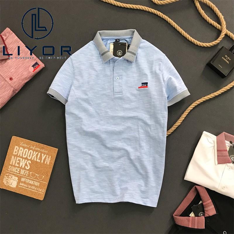 Áo thun nam HỖ TRỢ ĐỔI SIZE áo phông có cổ tay ngắn thiết kế CAO CẤP LỊCH LÃM Liyor - TACB4022
