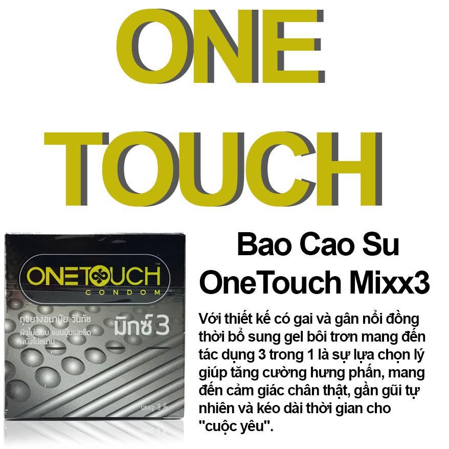 Bao Cao Su OneTouch Mixx 3 Gân Gai Thái Lan - Hộp 3 Chiếc