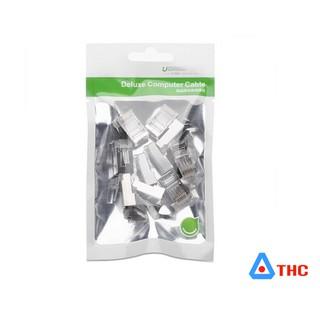 Túi hạt mạng cho dây CAT6 bọc inox (10 chiếc) NW111 bọc kim loại cho cáp cat6, cat7 Ugreen 20333