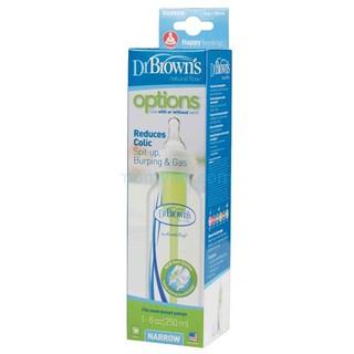 Bình sữa Dr.Brown's Tùy chọn cổ thường 250ml Dr Brown's nhựa PP