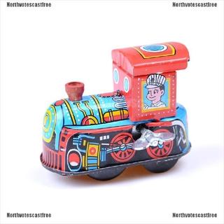 [NVC Free]Retro Steam Train Reminiscence Children Vintage Wind Up Tin Toys