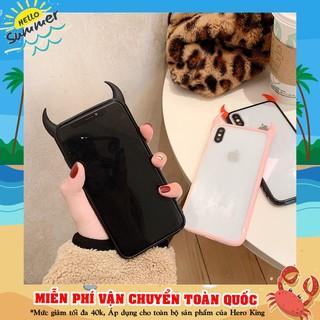 Ốp Lưng Điện Thoại Phối Sừng Ác Quỷ Thời Trang Dành Cho Iphone 6/ 6s/ 6s Plus/ 7Plus/ X/ Xs Max