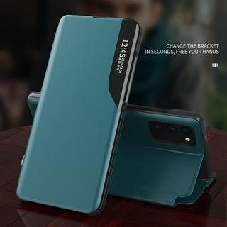 Bao da điện thoại nhám dạng nắp lật có giá đỡ cho Samsung Galaxy S20 FE S20Plus S20Ultra Samsung Note 8 9 10 Plus