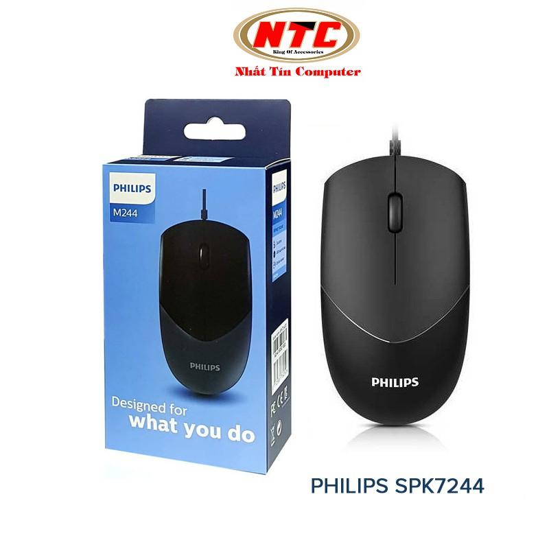 Chuột vi tính siêu bền Philips SPK7244 (M244) - phù hợp cả người thuận tay trái hoặc phải (đen)