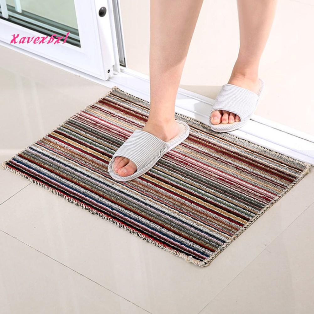Thảm chùi chân kẻ sọc đơn giản cho phòng tắm , nhà bếp