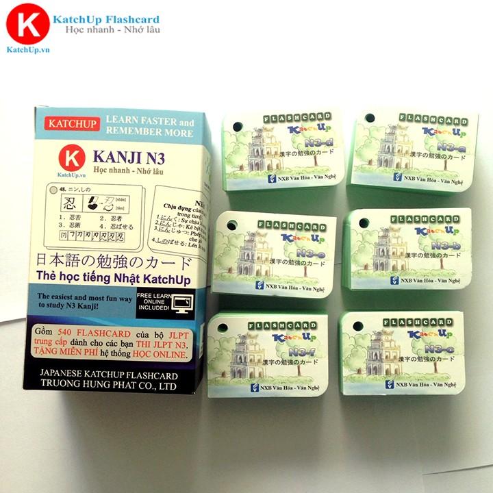 [Ép nhựa] Bộ KatchUp Flashcard Hán Tự N3