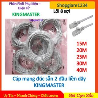 Dây cáp mạng KINGMASTER CAT5E 15M-20M-25M-30M-40M Đúc Sẵn 2 Đầu - Hàng Chính Hãng - Loại Tốt thumbnail