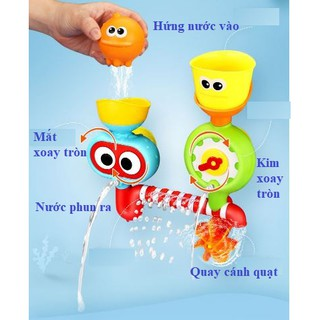 Bộ đồ chơi phun nước chuyển động dính tường nhà tắm