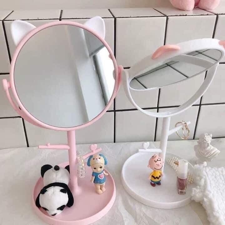Gương trang điểm mini tai Mèo