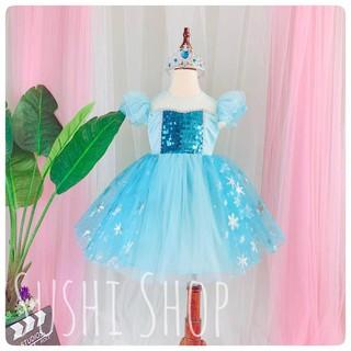 Đầm Elsa Nhũ Ánh mẫu mới 2020 - Dành cho bé gái từ 10-31kg)