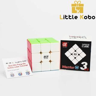 Rubik 3×3 Qiyi Warrior W Stickerless Rubik 3 Tầng Khối Lập Phương Rubik
