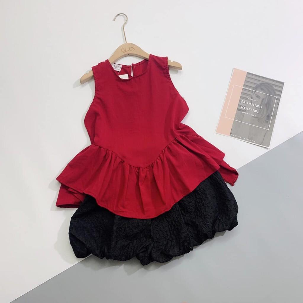 BÁN SỈ SET áo đỏ quần đen