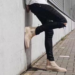 FREESHIP ĐƠN 99K_Quần Jeans rách gối Bassic Fox_Black