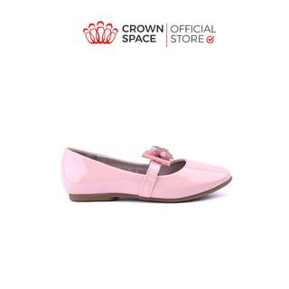 Giày Búp Bê Bé Gái Đi Học Đi Chơi Crown Space UK Ballerina Trẻ Em Cao Cấp CRUK3122 Màu Hồng Be Đen Size 30-36/6-14 Tuổi