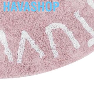 Havashop Crawling Mat Soft Cotton Round Letters Carpet Play Washable Children Rugs for Toddlers Kids