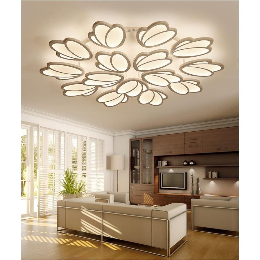 Đèn trần LED ZIGG 15 ánh hoa hiện đại trang trí nội thất