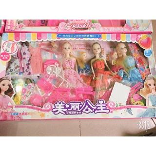 Hộp 6 búp bê barbie kèm phụ kiện