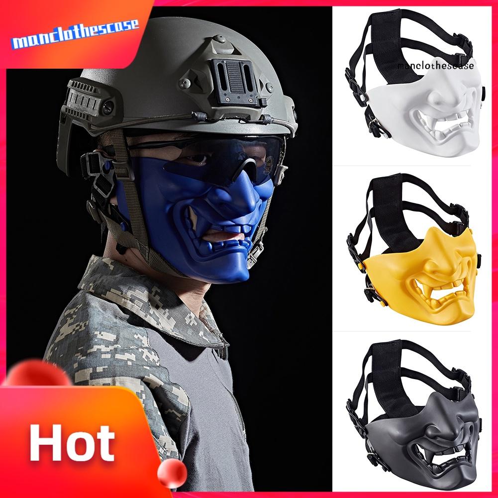 MANC Protective Prajna Evil Demon Knight Half Face Cover Masque Halloween Cosplay