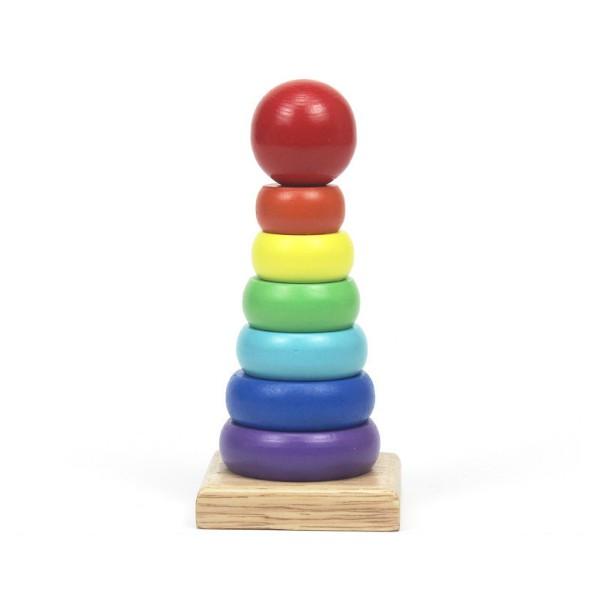 [RẺ VÔ ĐỊCH] Đồ chơi tháp cầu vòng mini bằng gỗ size nhỏ