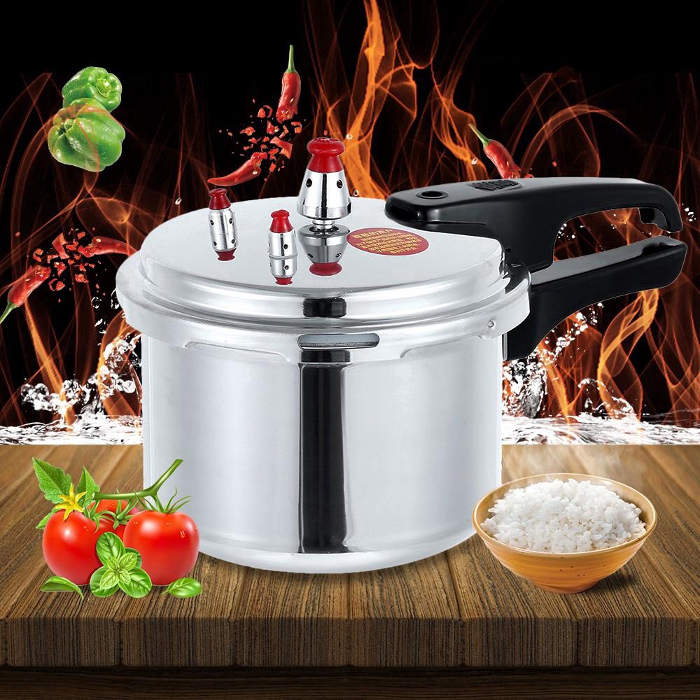【Mới đến】 Bộ nồi áp suất đặt bếp áp suất đen an toàn van kim loại 1/2 người sử dụng