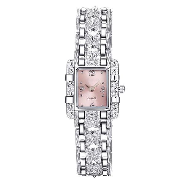 Đồng hồ dây hợp kim đính đá hình bướm dành cho nữ