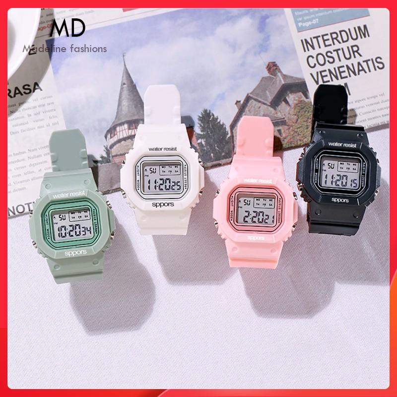 Đồng hồ điện tử nam nữ SPPORS thể thao, mặt chữ nhật cá tính, full chức năng, chống nước tốt ( Mã: ASP01 )