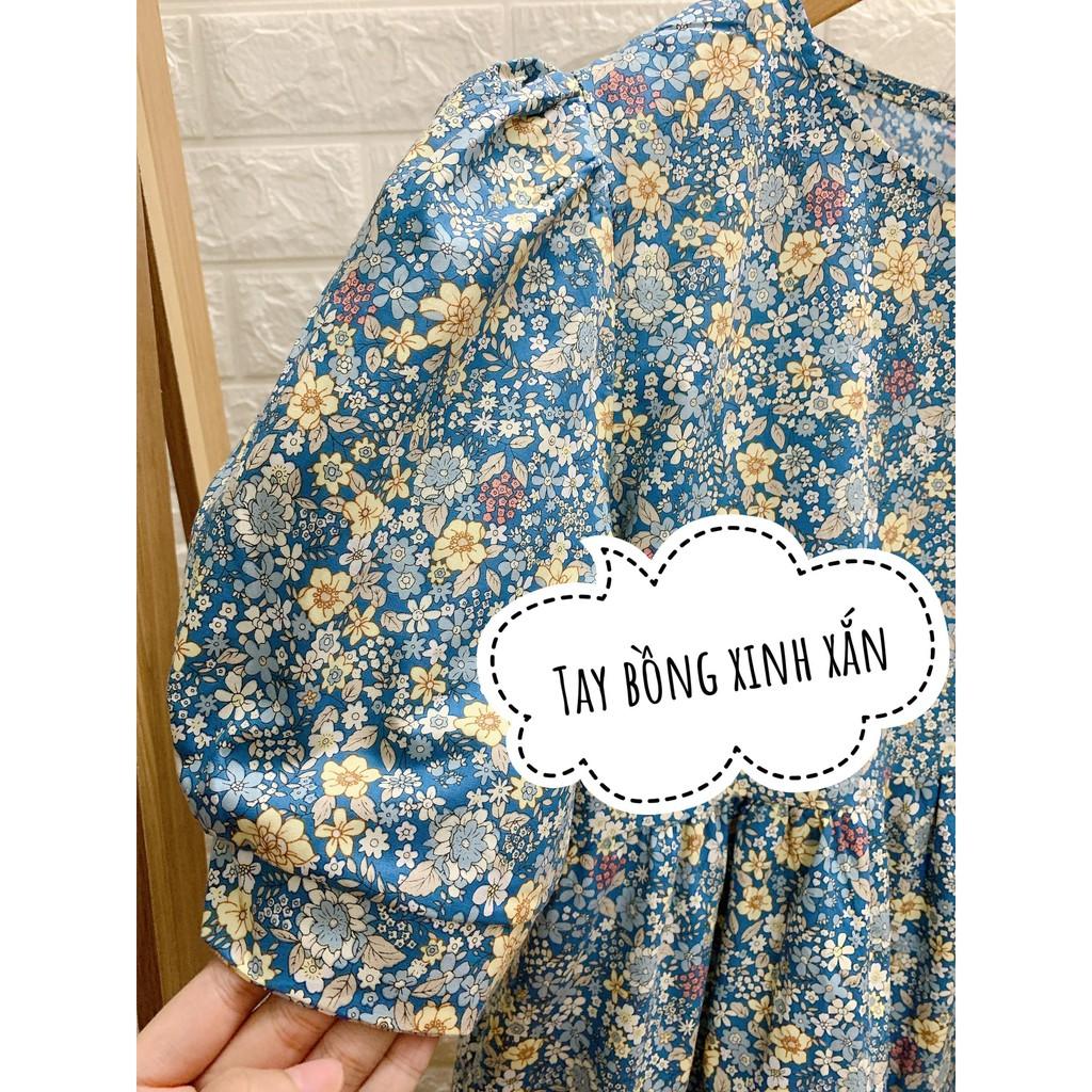 Mặc gì đẹp: Dễ chịu với Đầm Bầu Váy Bầu Babydoll Hoa Nhí Tay Bồng Mùa Hè Thiết Kế HD2815 Honey Mommy