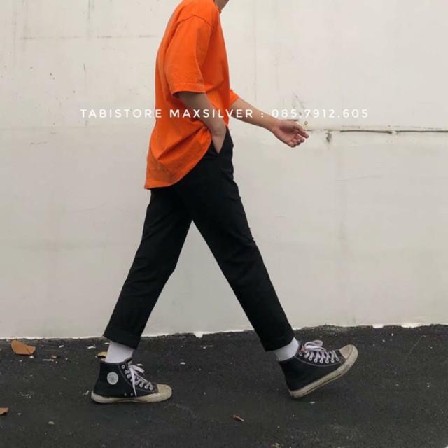 Quần baggy kaki ĐEN và BE - Basic Pant Kaki unisex nam nữ tối đa 80kg
