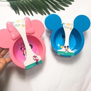 Bát / Đĩa ăn dặm Disney cho bé hình chuột Mickey DN80439 / DN80438