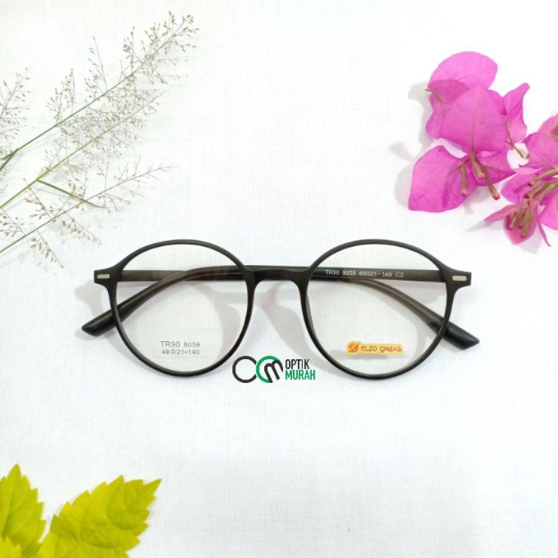 Mắt kính gọng tròn linh hoạt Elzo Ghava 8059