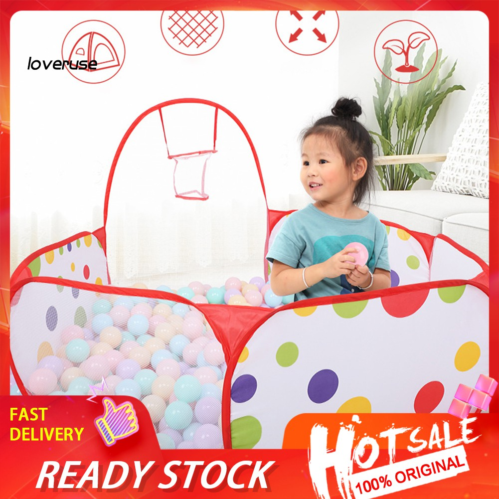 WJ_Foldable Indoor Children Basketball Shoot Ball Ocean Pool Play Tent Game House