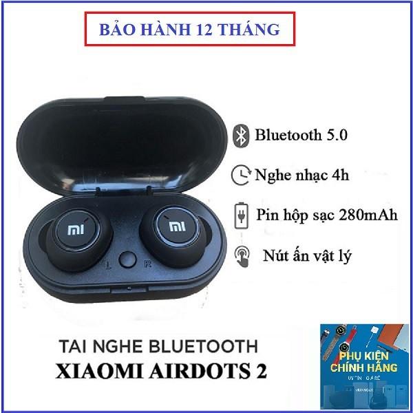 Tai Nghe Bluetooth AirDots Redmi2 Đen,Công Nghệ 5.0 Kèm Đốc Sạc,Cảm Biến Tự Động Kết Nối