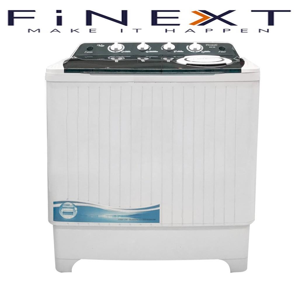 FINEXTฟิเน็กซ์เครื่องซักผ้าSTANDARD2TANKSขนาด10.5กิโลกรัมMANUALฝาบนWASHING MACHINE2TUBเบอร์5รุ่นTWIN TUBราคาถูก**ราคาพิเ