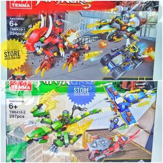 Combo 2 Hộp Lego NinjaGo TENMA 6410-1 & TENMA 6410-2 ( 591 Mảnh )
