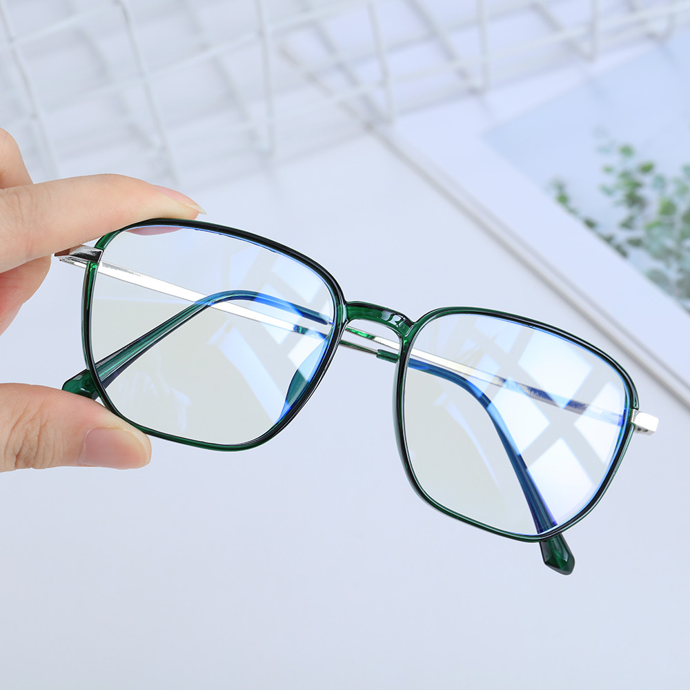 👗KAREN💍 Unisex Blue Light Blocking Glasses Vision Care Safety Goggles Office Computer Goggles Square Frame Anti Eyestrain Retro Radiation Protection...