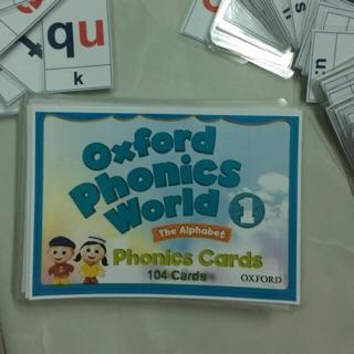 Flashcards oxford phonics world book 1