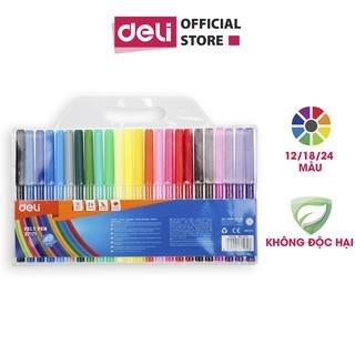 """Bút màu nước học sinh Deli, 1.0mm, 12 màu - 18 màu - 24 màu/hộp E37171 giá chỉ còn <strong class=""""price"""">800.000.000đ</strong>"""
