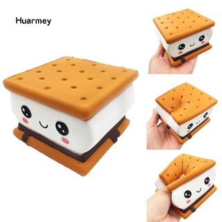 ★Hu Squishy Sandwich Biscuit Emoji Slow Rising Relieve Stress Kids Adult Squeeze Toy mã SPQL7689