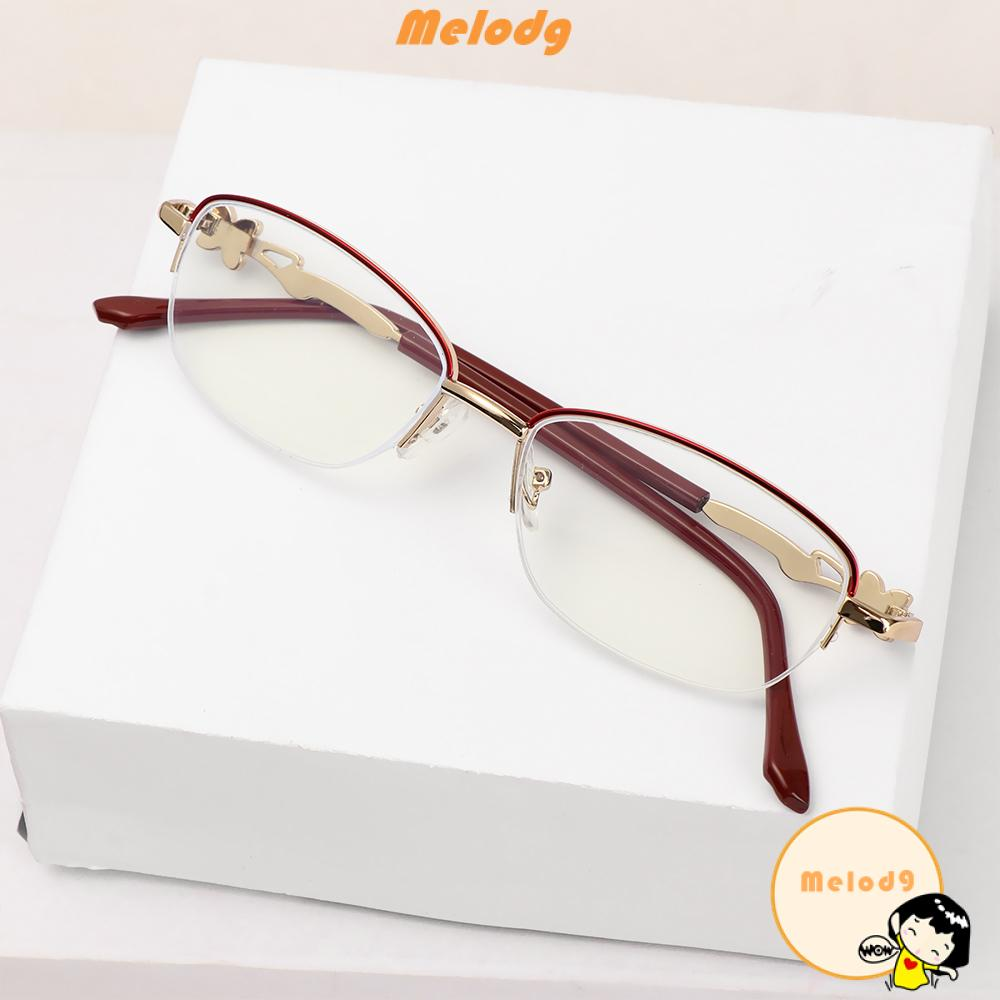 💍MELODG💍 Anti-fatigue Presbyopic Eyeglasses Women Fashion Metal Frame Eyewear Anti Blue Light Reading Glasses Anti-UV Transparent Luxury Radiation Protection Computer Goggles