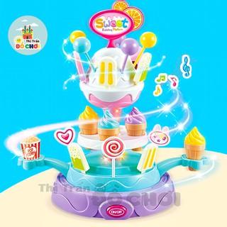 Đồ chơi nấu ăn GIÁ SỐC Đồ chơi nấu ăn mẫu xe đẩy cửa hàng bán kem có nhạc đèn cho bé trai, bé gái nhiều mẫu thumbnail