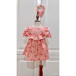 Váy trẻ em, đâm trẻ em , Váy cho bé, váy trẻ em, váy hoa xòe, Cô gái với váy hoa hàn quốc mới xinh