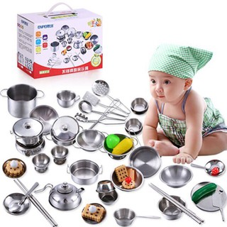 bộ đồ chơi nấu ăn 40 chi tiết inox