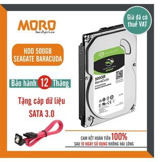 [Mã ELMS05 giảm 5% đơn 300K] Ổ cứng HDD Seagate Barracuda 500GB - Tặng cáp Sata - Bảo hành 12 tháng 1 đổi 1