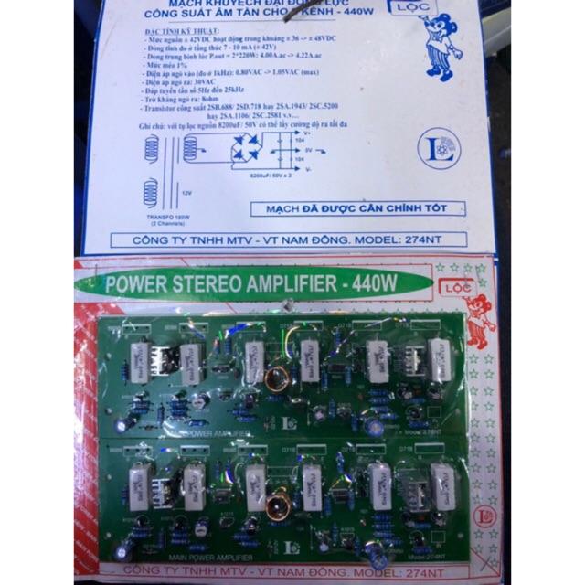 Mạch khuếch đại công suất ampli 440W