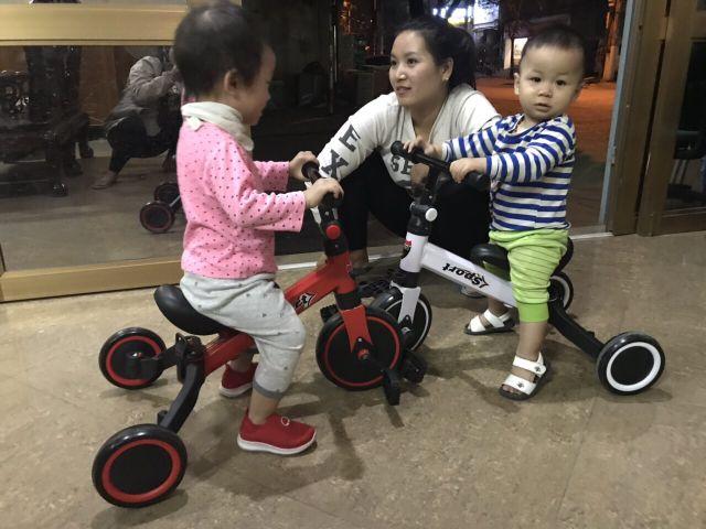 Xe thăng bằng - xe đạp 3 bánh - xe chòi chân có bàn đạp kết hợp 3in1