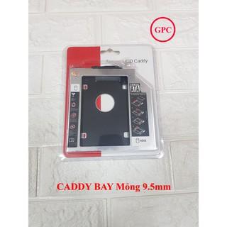 Caddy Bay Mỏng 9.5mm Chuẩn SATA Dùng Để Lắp Thêm 1 Ổ Cứng / SSD Qua Khay CD/DVD